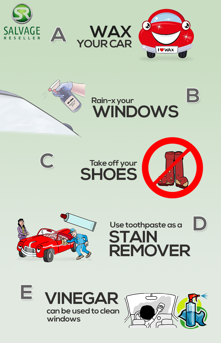 keep car clean infographic